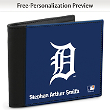 Show Your Tigers™ Loyalty and Keep Cards Safe with this Leather-Accented RFID Wallet!