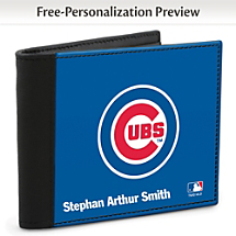 Chicago Cubs™ MLB® Logo Men's Wallet with RFID Blocking Technology