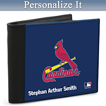 Show Your Cardinals™ Loyalty and Keep Cards Safe with this Leather-Accented RFID Wallet!