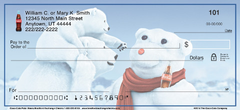 Coca-Cola® Polar Bears Personal Checks