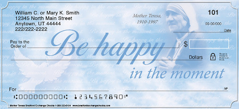 Mother Teresa Personal Checks