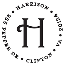 Harrison Personalized Initial Stamp