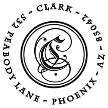 Clark Personalized Initial Stamp