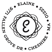 Elaine Personalized Initial Stamp