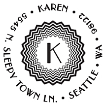 Karen Personalized Initial Stamp