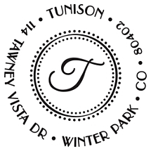 Tunison Personalized Initial Stamp