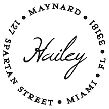Hailey Personalized Name Stamp