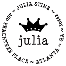 Julia Personalized Name Stamp