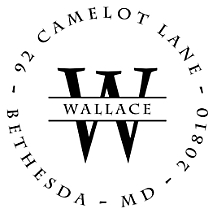 Wallace Personalized Name Stamp