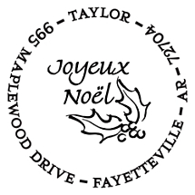 Noel Personalized Image Stamp