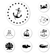 Anchor's Aweigh Peel & Stick Interchangeable Stamp Set
