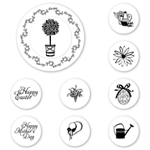 Topiary Peel & Stick Interchangeable Stamp Set