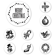 Tis the Season Peel & Stick Interchangeable Stamp Set