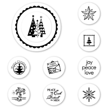 Holiday Spirit Peel & Stick Interchangeable Stamp Set