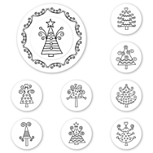 Holiday Trees Peel & Stick Interchangeable Stamp Set