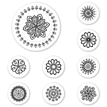 Rosettes Peel & Stick Interchangeable Stamp Set
