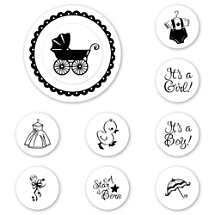 Baby Peel & Stick Interchangeable Stamp Set