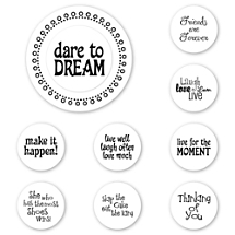 Dare to Dream Peel & Stick Interchangeable Stamp Set