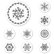 Snowflakes Peel & Stick Interchangeable Stamp Set
