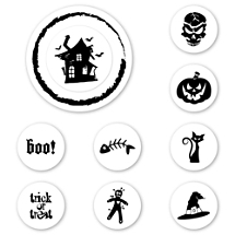 Halloween Peel & Stick Interchangeable Stamp Set