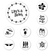 Life's a Beach Peel & Stick Interchangeable Stamp Set