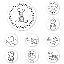 Animal Peel & Stick Interchangeable Stamp Set