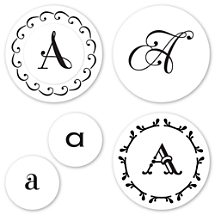 Monogram A Peel & Stick Interchangeable Stamp Set