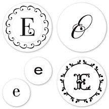 Monogram E Peel & Stick Interchangeable Stamp Set