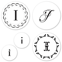 Monogram I Peel & Stick Interchangeable Stamp Set