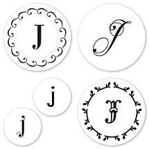 Monogram J Peel & Stick Interchangeable Stamp Set