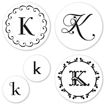Monogram K Peel & Stick Interchangeable Stamp Set