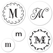 Monogram M Peel & Stick Interchangeable Stamp Set