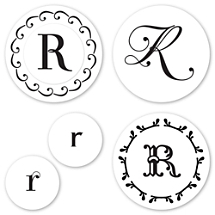 Monogram R Peel & Stick Interchangeable Stamp Set