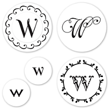 Monogram W Peel & Stick Interchangeable Stamp Set