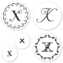 Monogram X Peel & Stick Interchangeable Stamp Set