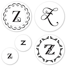 Monogram Z Peel & Stick Interchangeable Stamp Set