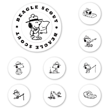 Peanuts Beagle Scout Peel & Stick Interchangeable Stamp Set