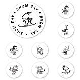 Peanuts Snow Day Peel & Stick Interchangeable Stamp Set