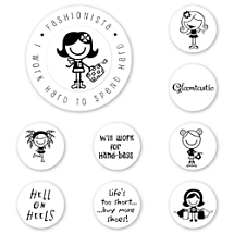 Smirk Fashionista Peel & Stick Interchangeable Stamp Set