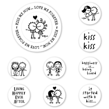 Smirk Kiss Me Now Peel & Stick Interchangeable Stamp Set
