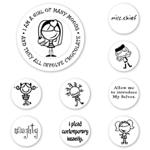 Smirk Many Moods Peel & Stick Interchangeable Stamp Set