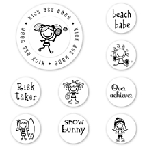 Smirk Girls Rule Peel & Stick Interchangeable Stamp Set