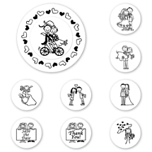 UBU Wedding Peel & Stick Interchangeable Stamp Set