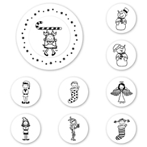 UBU Happy Holidays Peel & Stick Interchangeable Stamp Set