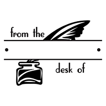 Desk Quill Fill-in Stamp