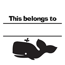 Whale Fill-in Stamp