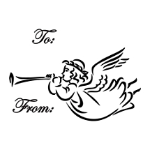 Angel Holiday Gift Tag Stamp