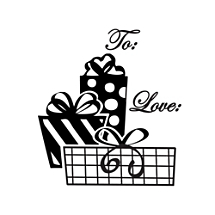 Presents Gift Tag Stamp