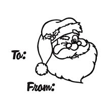 Santa Gift Tag Stamp