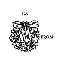 Wreath Gift Tag Stamp